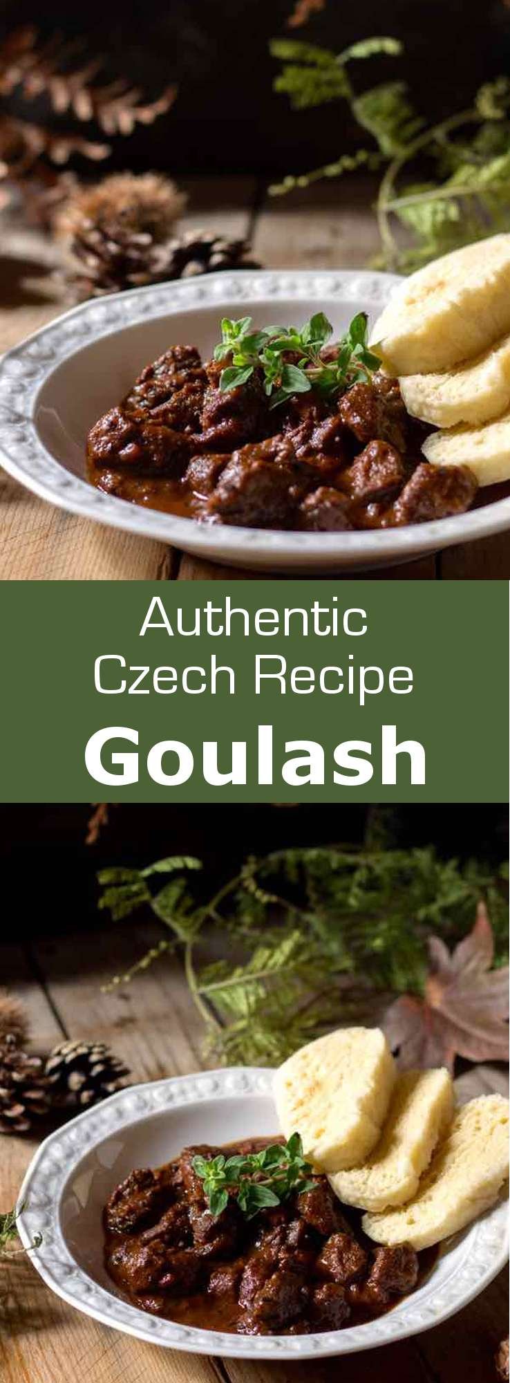 Goulash (guláš in Czech) is a deliciously complex beef stew that is originally from Hungary. It has been a popular comforting recipe in the Central European region of the Carpathian mountains for centuries. #Czech #Hungarian #CzechCuisine #HungarianCuisine #Hungary #Stew #Soup #WorldCuisine #196flavors
