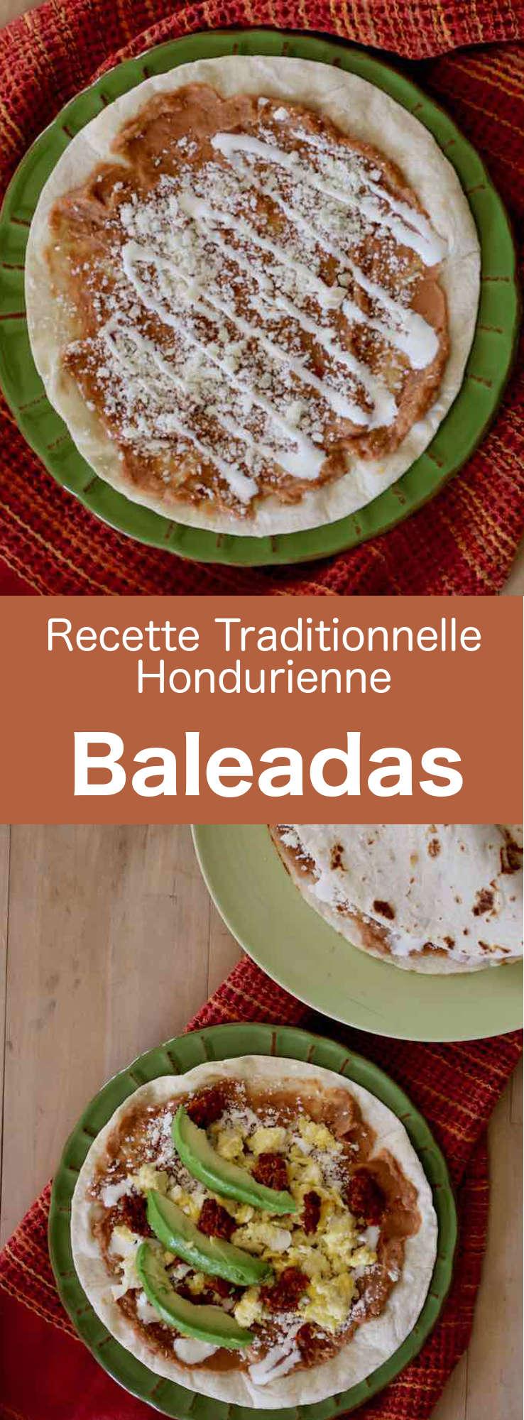 Les baleadas sont des tortillas épaisses du Honduras, pliées en deux et garnies de purée de haricots rouges frits et d'autres ingrédients. #Honduras #CuisineDuMonde #196flavors