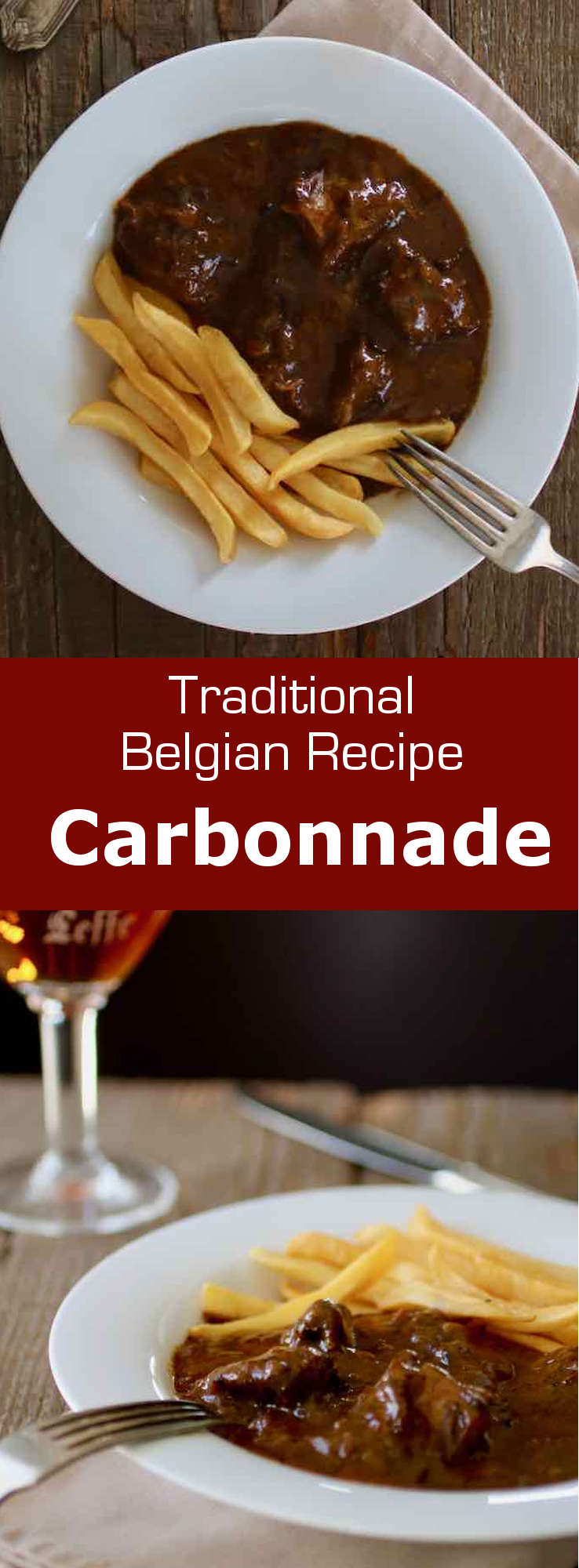 Carbonnade (or stoofvlees in Flemish) is a traditional Belgian beef stew with dark beer and onions.