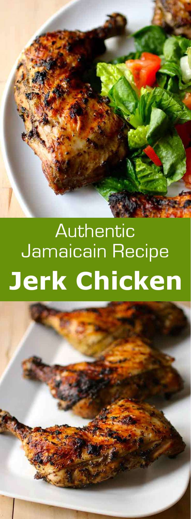 Jerk chicken is a traditional Jamaican recipe which consists in chicken marinated in a spicy blend for a few hours and then grilled on a BBQ. #Jamaica #BBQ #196flavors