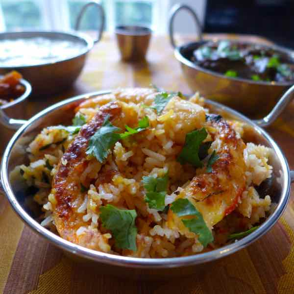 Biryani aux crevettes recette indienne 196 flavors - Cuisine indienne biryani ...