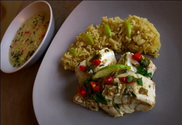 cod blaff rice pilaf