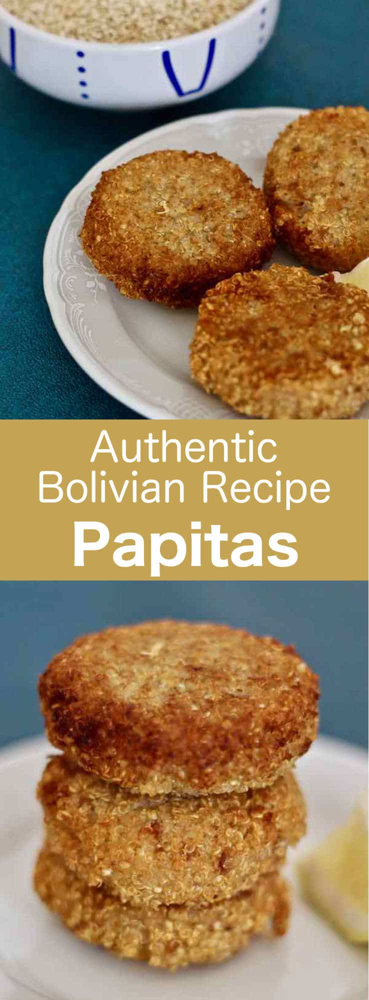 Papitas traditional bolivian recipe 196 flavors papitas are delicious bolivian fried quinoa patties that are stuffed with canned tuna and served with forumfinder Image collections
