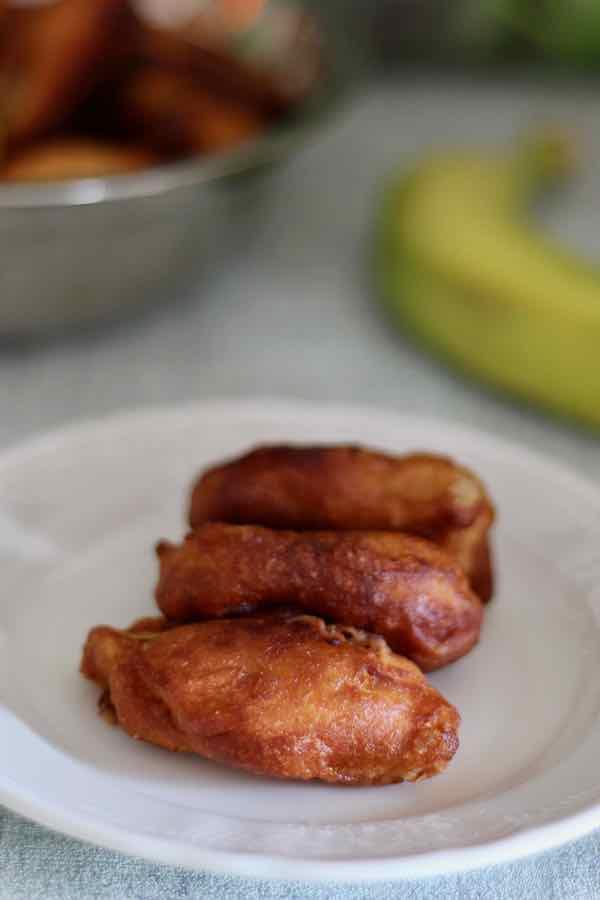 Banana Flambé Fritters