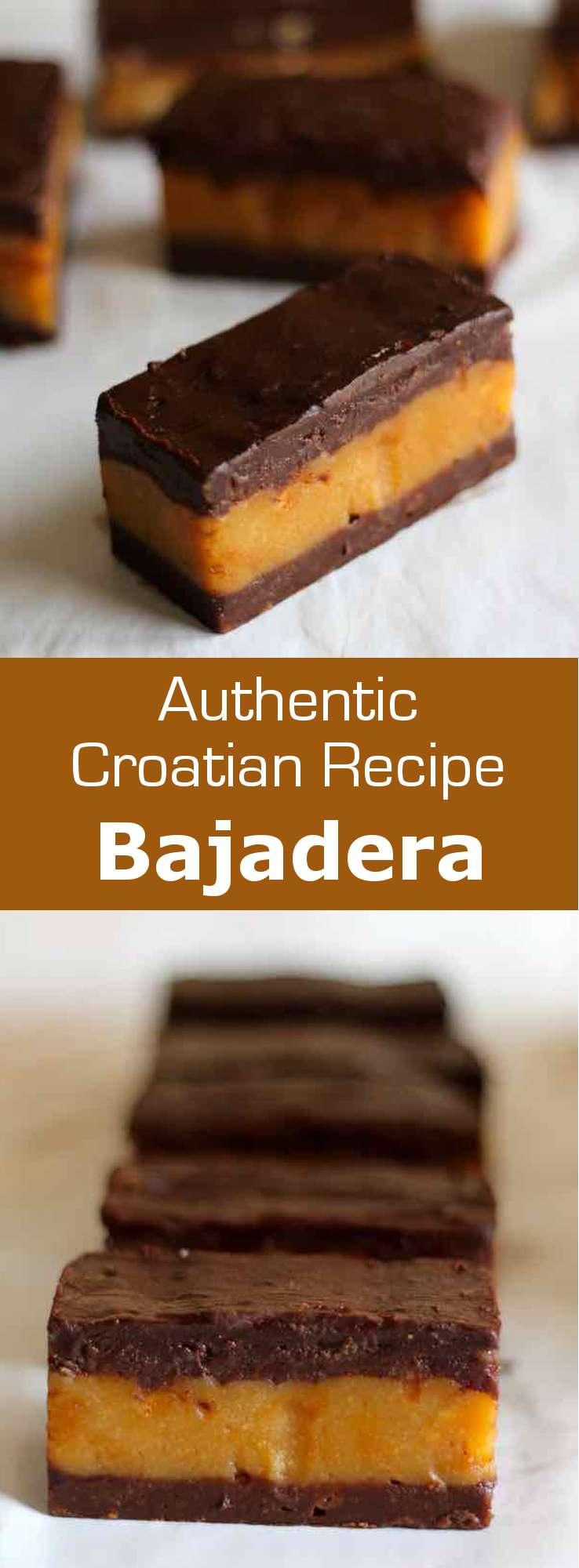 Bajadera is a delicious traditional Croatian treat made from cookie crumbs and chocolate.