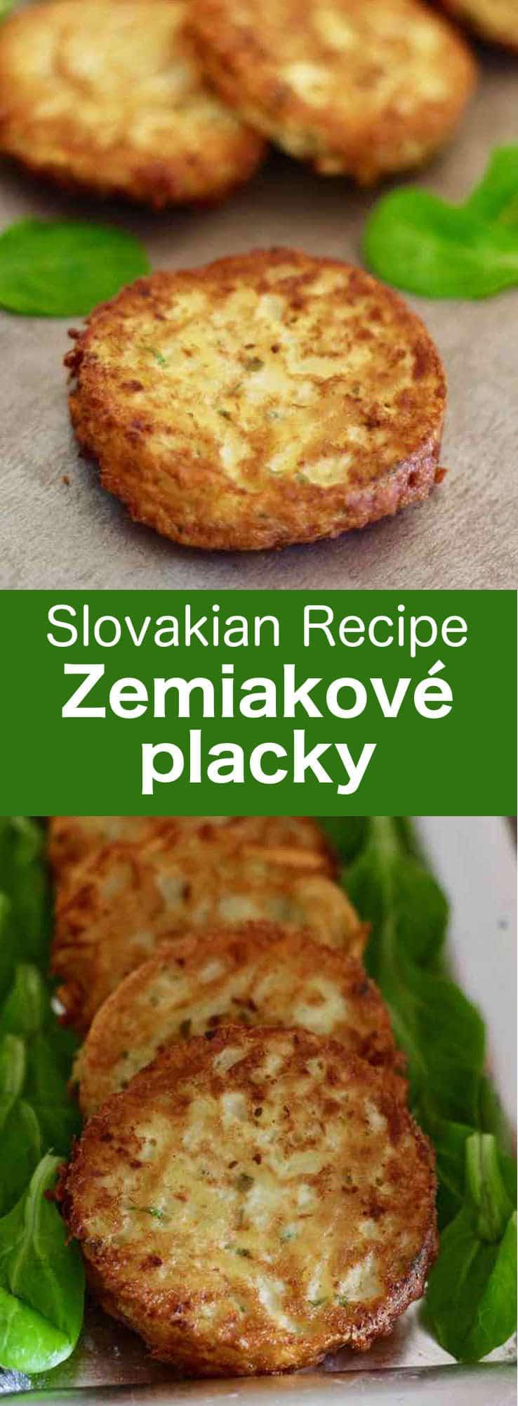 Zemiakové placky (bramboráky) are traditional Slovak potato pancakes, similar to latkes but seasoned with marjoram, which are also called haruľa. #Slovakia #196flavors