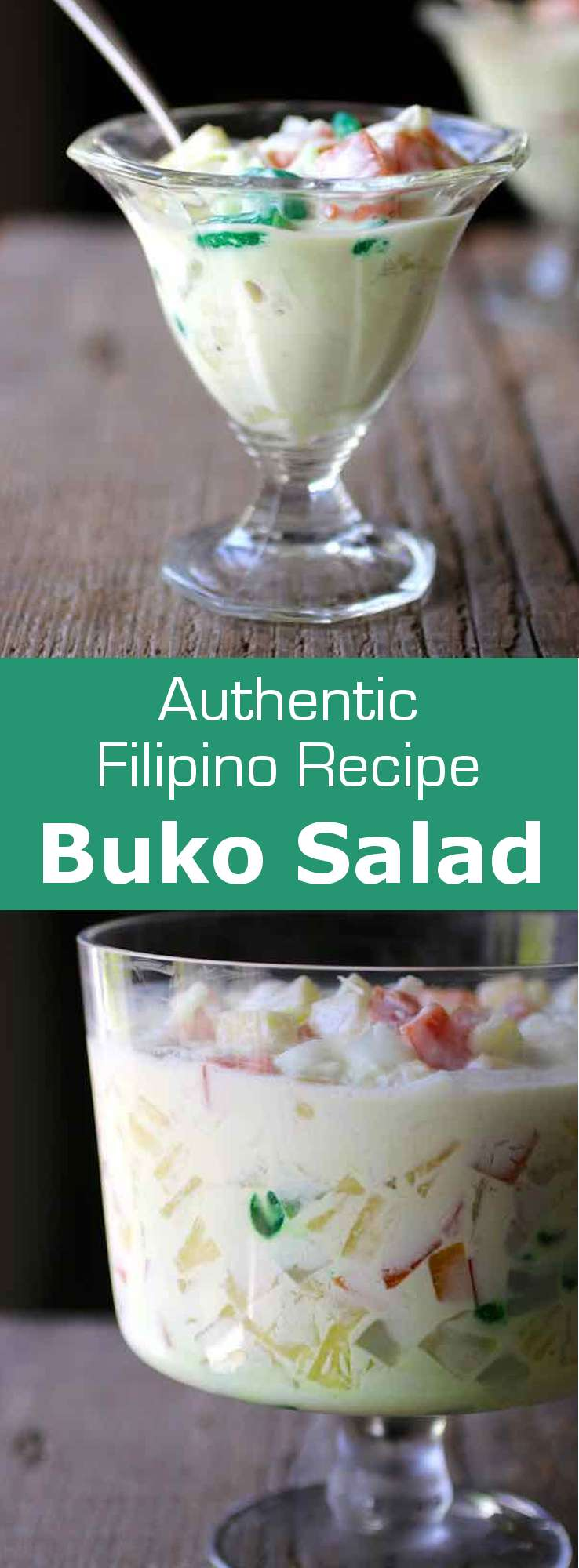 Buko salad is a traditional refreshing Filipino fruit-based dessert that is very easy and quick to prepare. #Philippines #196flavors