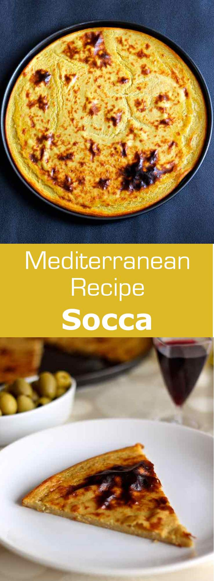 Socca is a traditional chickpea flour flat bread from the South of France, originally from around Nice and Monaco. #Nice #Monaco #Mediterranean #196flavors