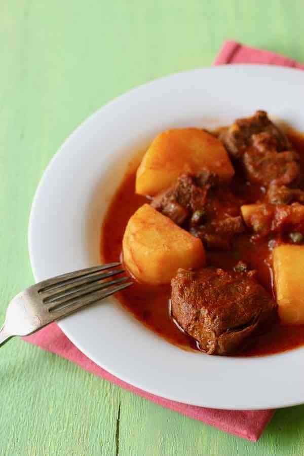 recette carne con papas