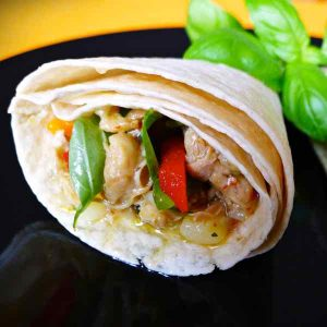 Sainte-Lucie : Chicken Roti