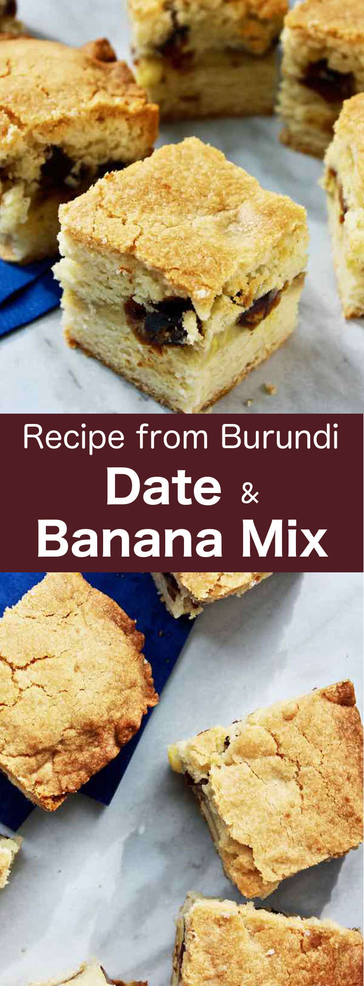 Date and banana mix is an easy to make traditional cake from Burundi that is best served warm. #Burundi #cake #Africa #196flavors