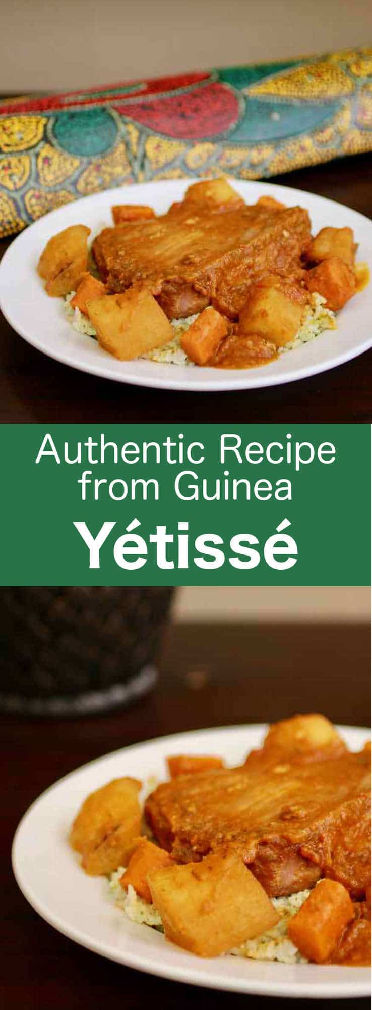 Yétissé is a delicious traditional stew from Guinea that is usually prepared with fish and served with rice combined with mashed okra. #Guinea #196flavors