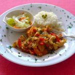 Haiti: Poul Ak Nwa (Cashew Chicken)