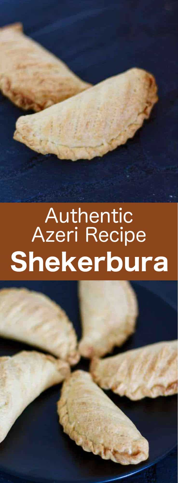 Shekerbura are delicious traditional pastries from Azerbaijan that are prepared with with an almond and cardamome filling. #Azerbaijan #Iran #Nowruz #pastry #worldcuisine #196flavors