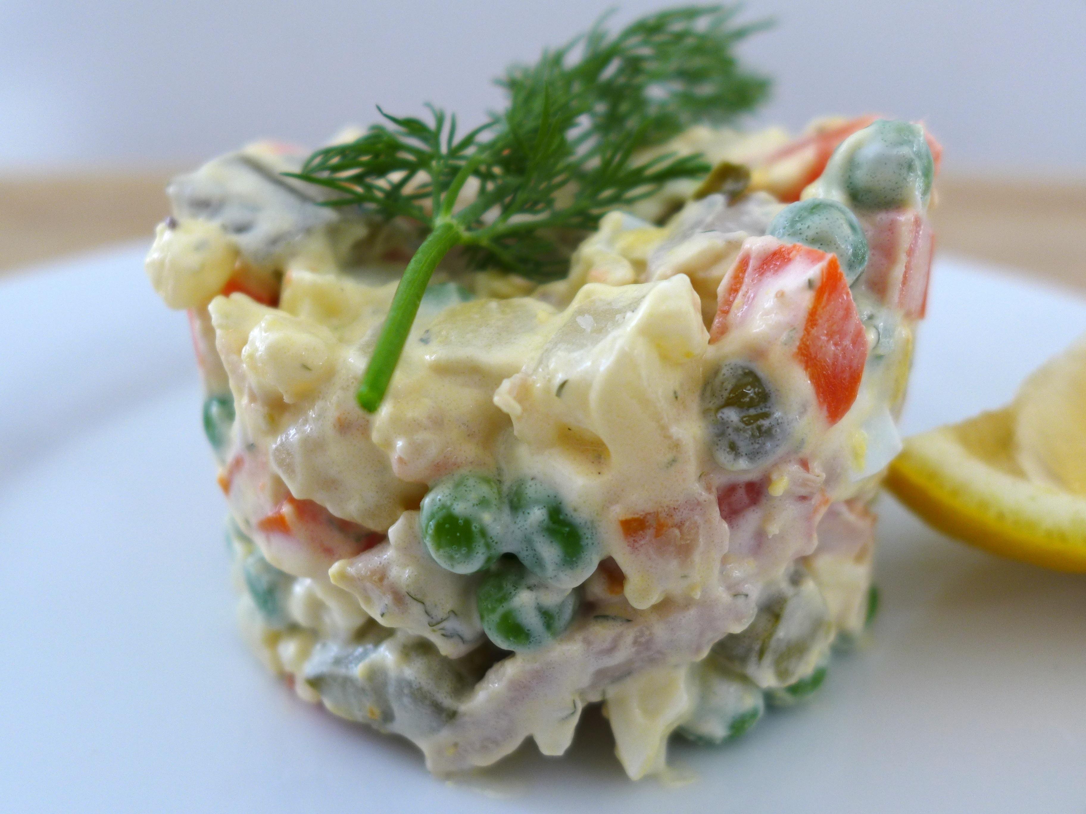Olivier Salad close up