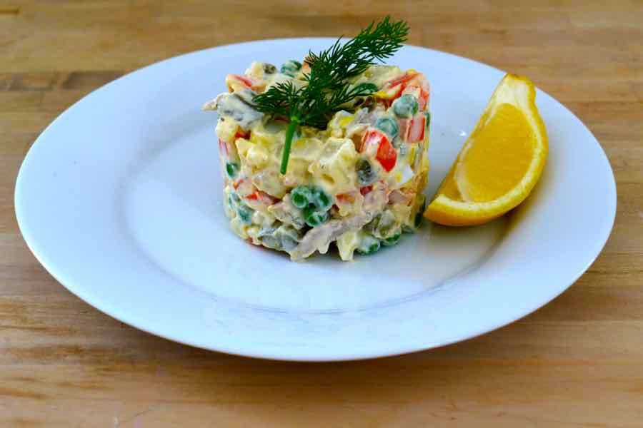 authentic Olivier Salad