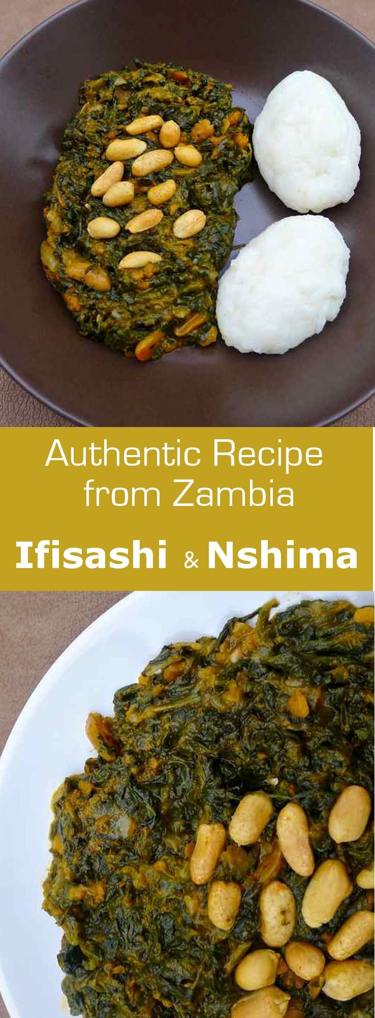 Ifisashi, a traditional vegetarian dish from Zambia, is typically served with nshima. #vegetarian #vegan #african #africa #zambia