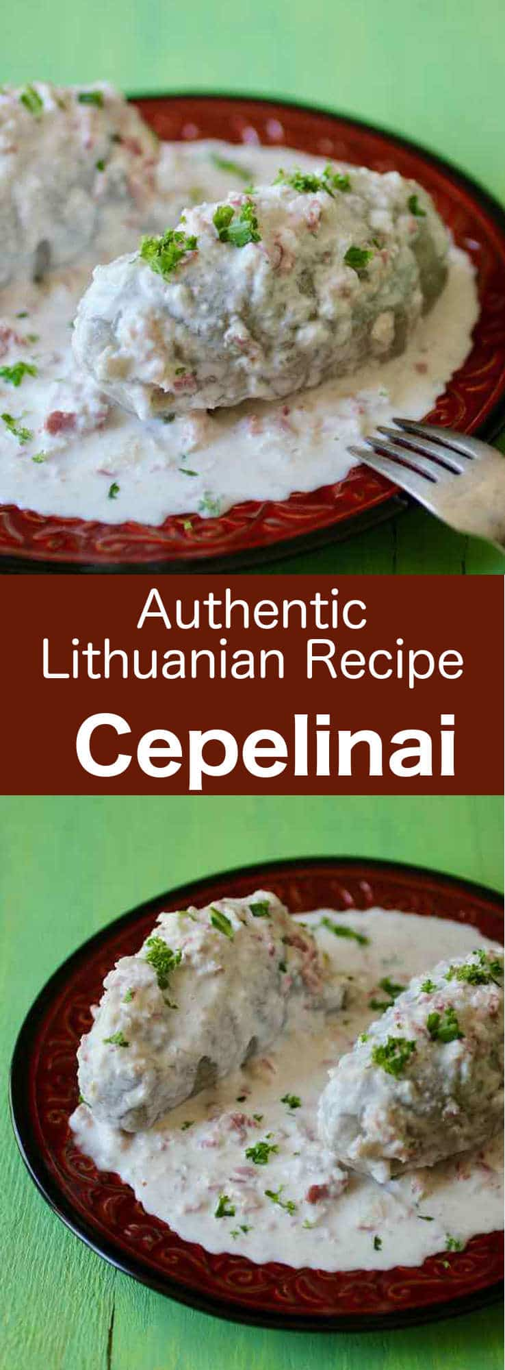 Cepelinai are dumplings made from potatoes and usually stuffed with ground meat, or sometimes cheese curd or mushrooms.