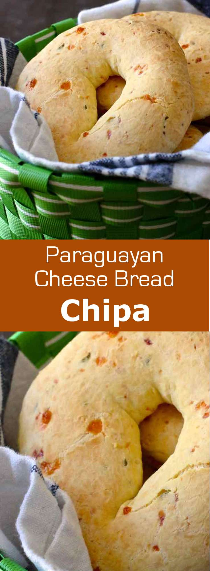 Chipa is a small traditional cheese bread from Paraguay, which is especially consumed during the Holy Week before Easter. Chipa argolla is the popular ring-shaped version. #Easter #Paraguay #Bread #196flavors