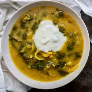 Soupe aux épinards et à la tangerine du Lesotho