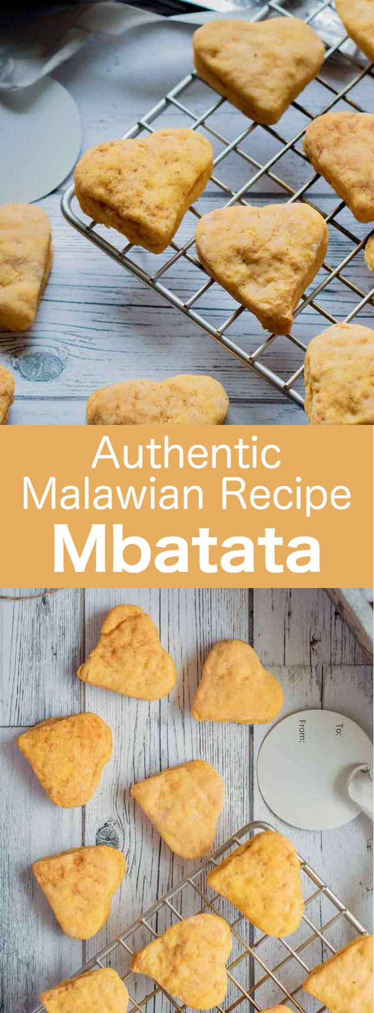Mbatata have the same appearance as regular cookies. However, those delicious sweet potato treats from Malawi are slightly softer. #Malawi #cookies #Africa #AfricanRecipe #AfricanCuisine #196flavors