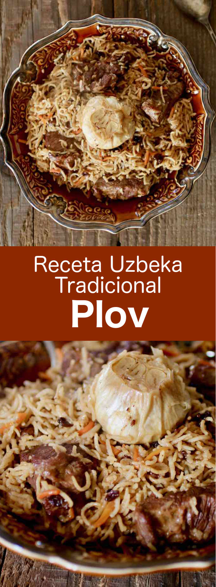 Uzbek plov differs from other preparations in that rice is simmered in a broth of meat and vegetables called zirvak until the liquid evaporates. #Uzbek #UzbekCuisine #UzbekFood #UzbekRecipe #WorldCuisine #196flavors