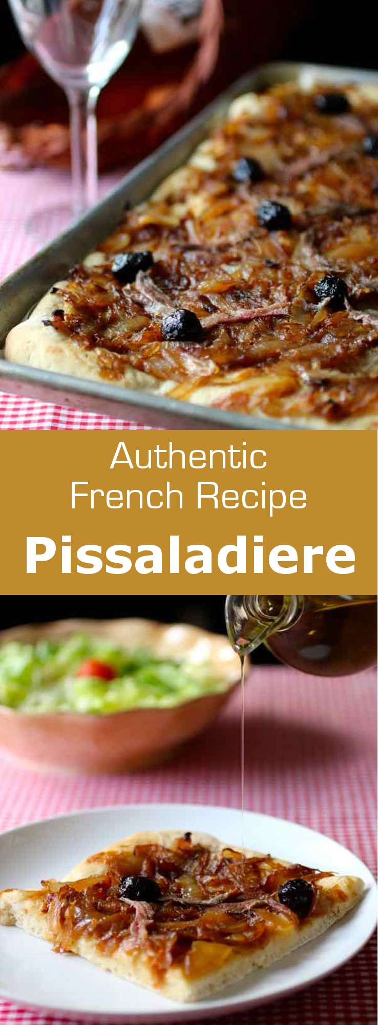 Pissaladiere, a flatbread from the South of France, is a great recipe idea for the summer picnics since it can be eaten hot, cold than lukewarm. #France #Nice #Provence #196flavors