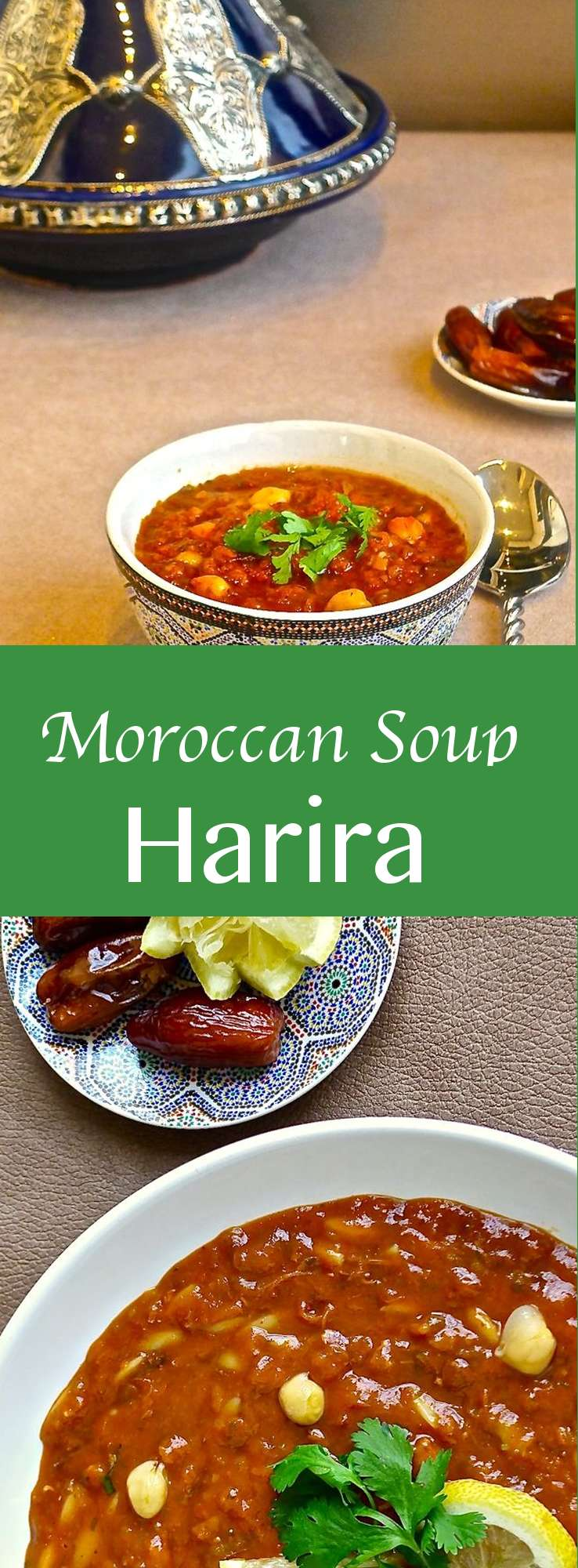 Harira is the traditional soup of Morocco, and more specifically from Fès that is popular as a starter but can also be eaten on its own as a snack.