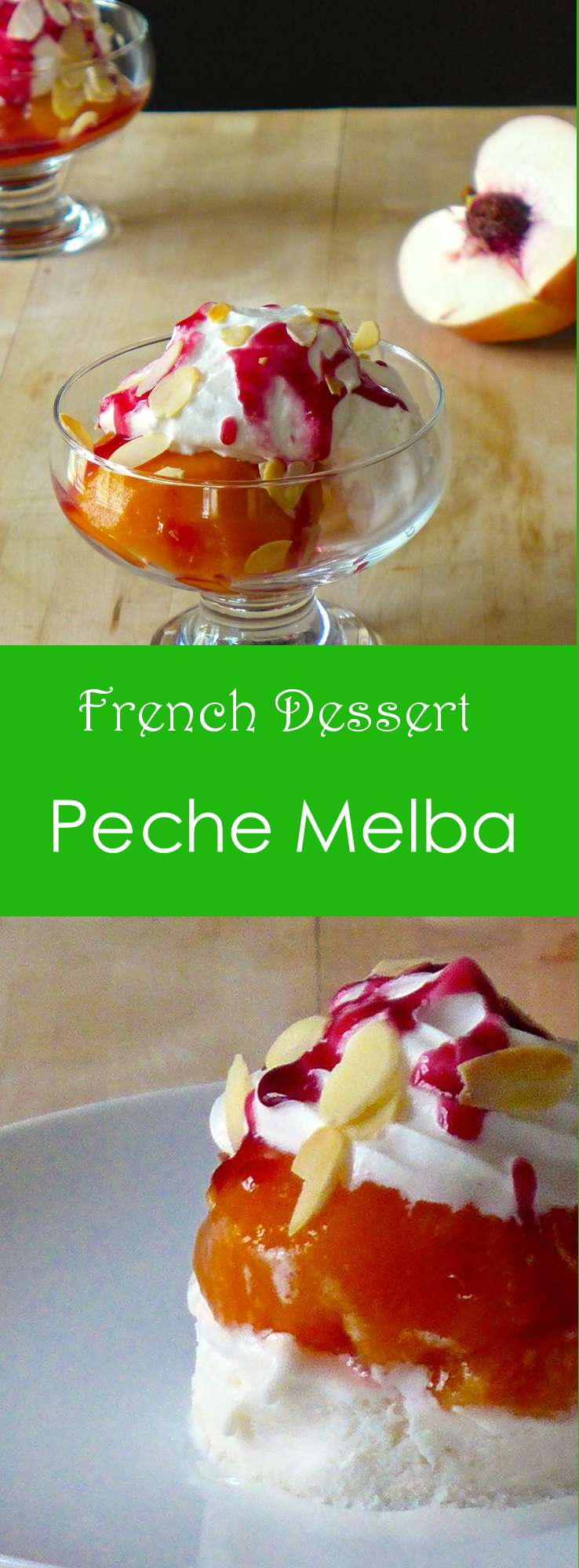 The first version of Peach Melba, a traditional dessert with peach was created by Chef Escoffier when he was the chef at the restaurant of the Savoy Hotel.