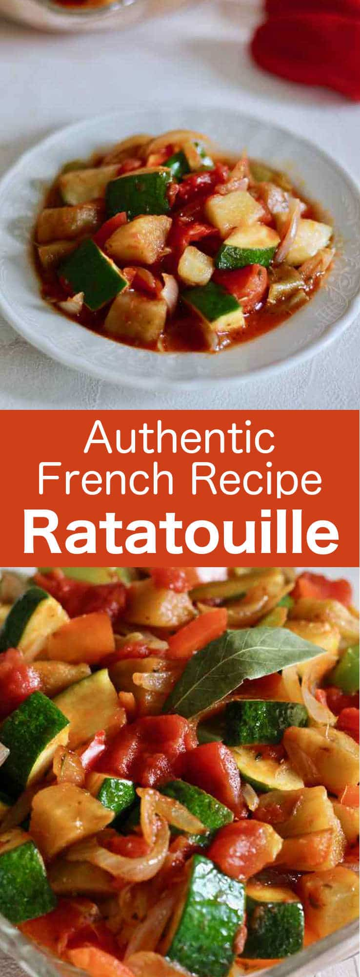 Every authentic ratatouille includes zucchini, eggplant, tomatoes, peppers, onions and olive oil but also garlic, bouquet garni and a touch of sugar. #France #French #196flavors