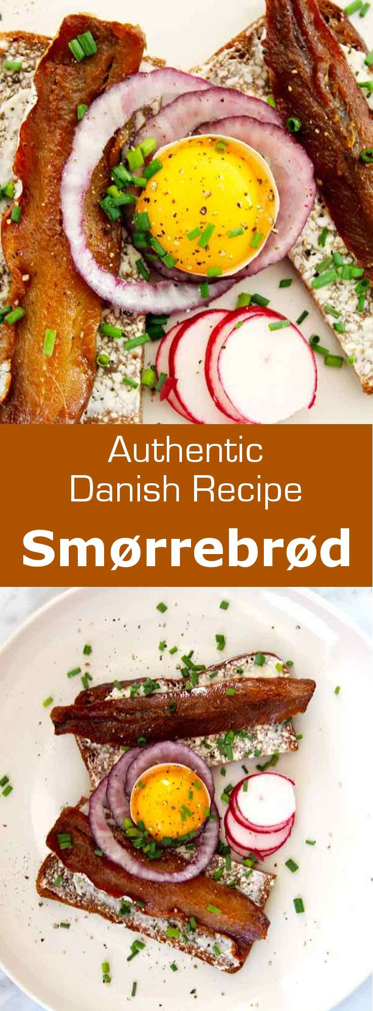 Smorrebrod,‏ 'butter and bread' in Danish, is an open faced sandwich prepared with dense rye bread and toppings that can include cold cuts, fish or cheese. #Danish #Denmark #DanishCuisine #Scandinavia #ScandinavianCuisine #WorldCuisine #196flavors
