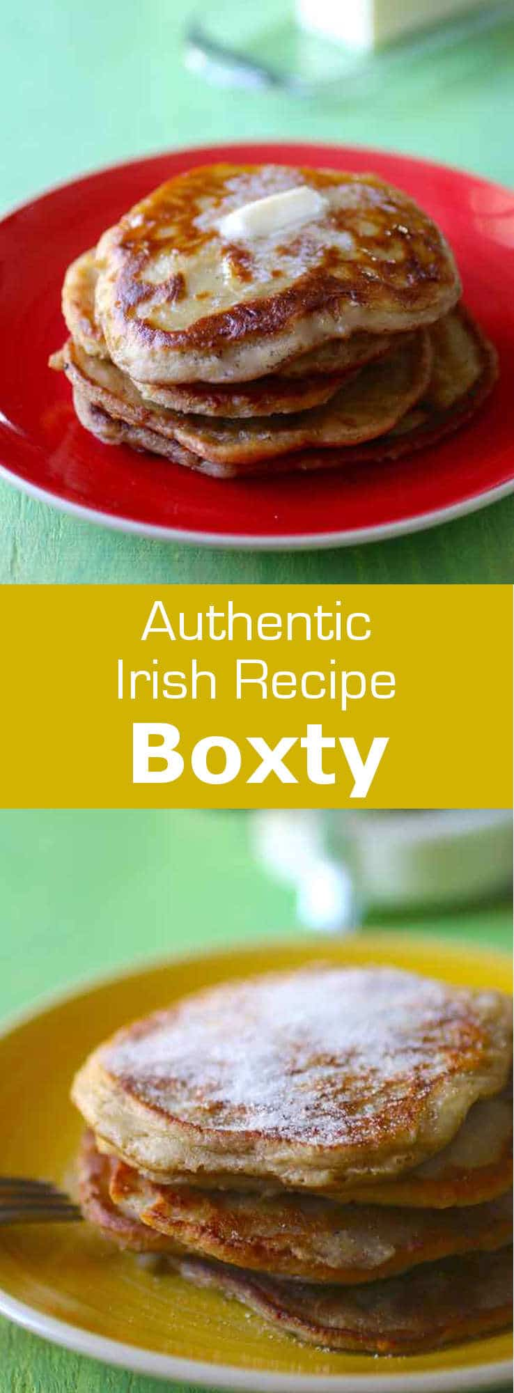 This Irish pancake called boxty is still prepared and eaten for various holidays, such as Halloween and is native to the Celtic countries. #Ireland #Irish #Imbolc #BrigidsDay #pancake #196flavors