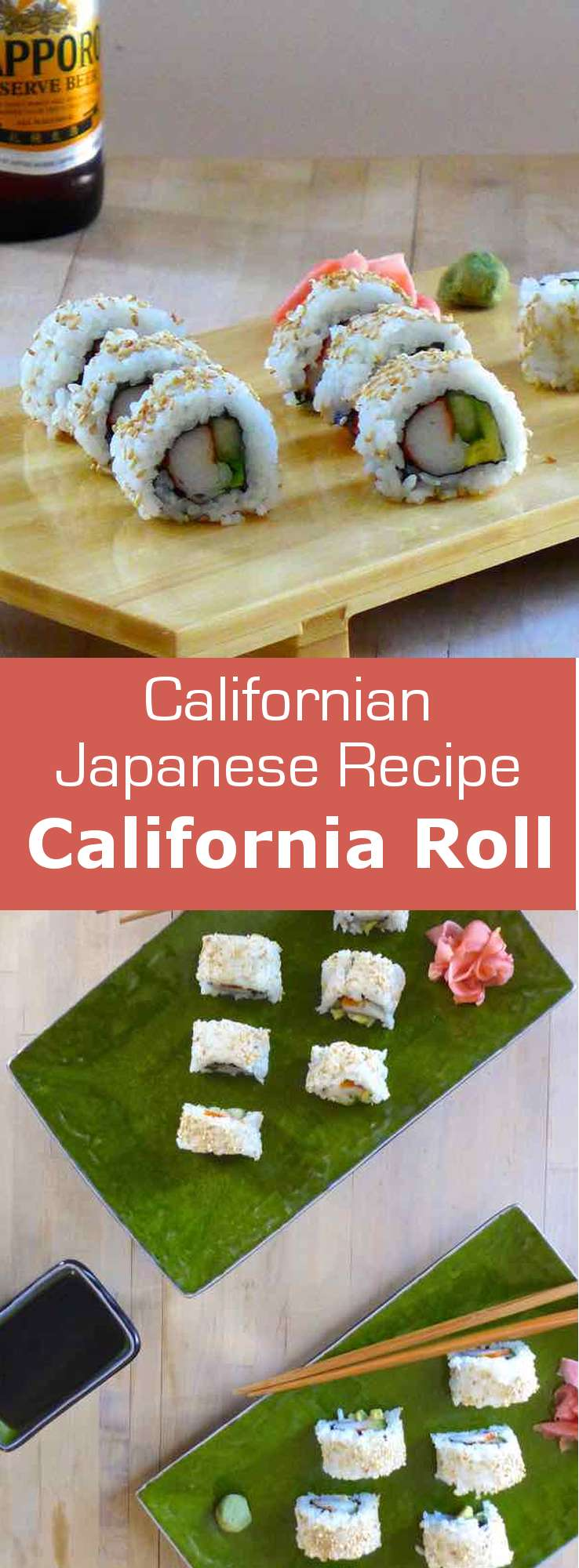 Some will say that the California roll is not Japanese. And there is some truth to it. It was actually created in California at the end of the 1960s. #sushi #japan #196flavors