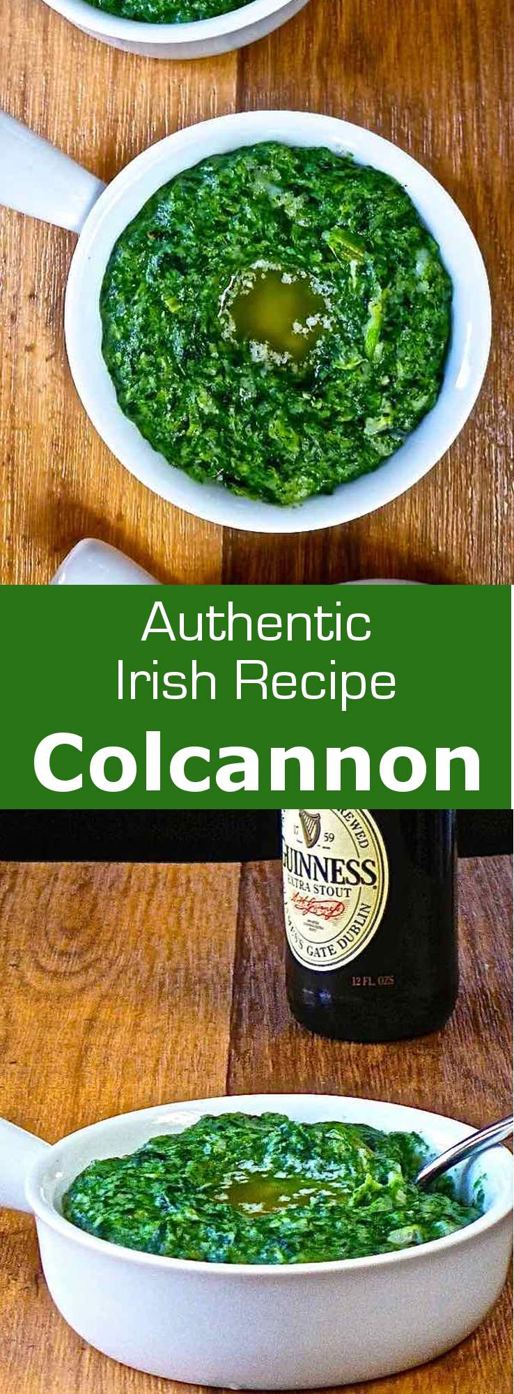 Colcannon (from Gaelic meaning white-headed cabbage), is a traditional Irish dish made ​​from potatoes, cabbage or kale, leek or scallion and cream. #ireland #196flavors