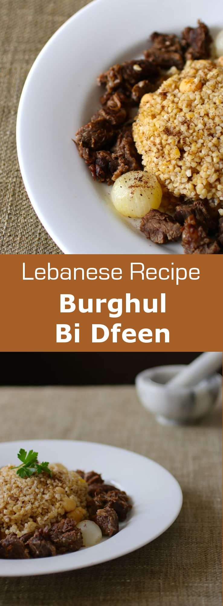 Discover burghul bi dfeen, an authentic Lebanese recipe based on bulgur and chickpeas which is usually served with yogurt. #lebanon #196flavors