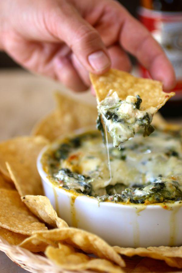 Spinach and Artichoke Dip - American Recipe   196 flavors