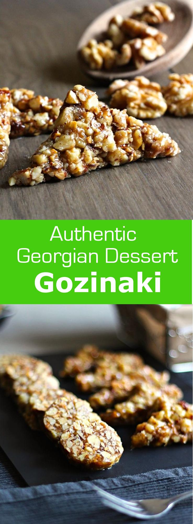 Gozinaki, a nougat made from nuts and honey, is a Georgian treat traditionally made for Christmas and New Year. #dessert #vegetarian #glutenfree #georgia #georgian