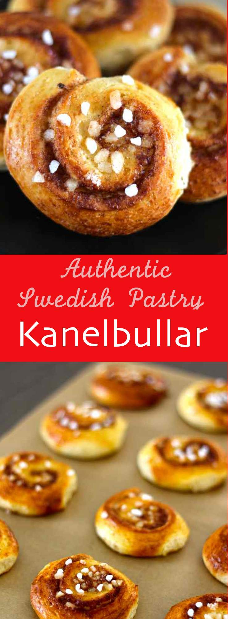 Kanelbullar are traditional little Swedish buns that are topped with softened butter, sugar and cinnamon. #vegetarian #dessert #swedish #sweden