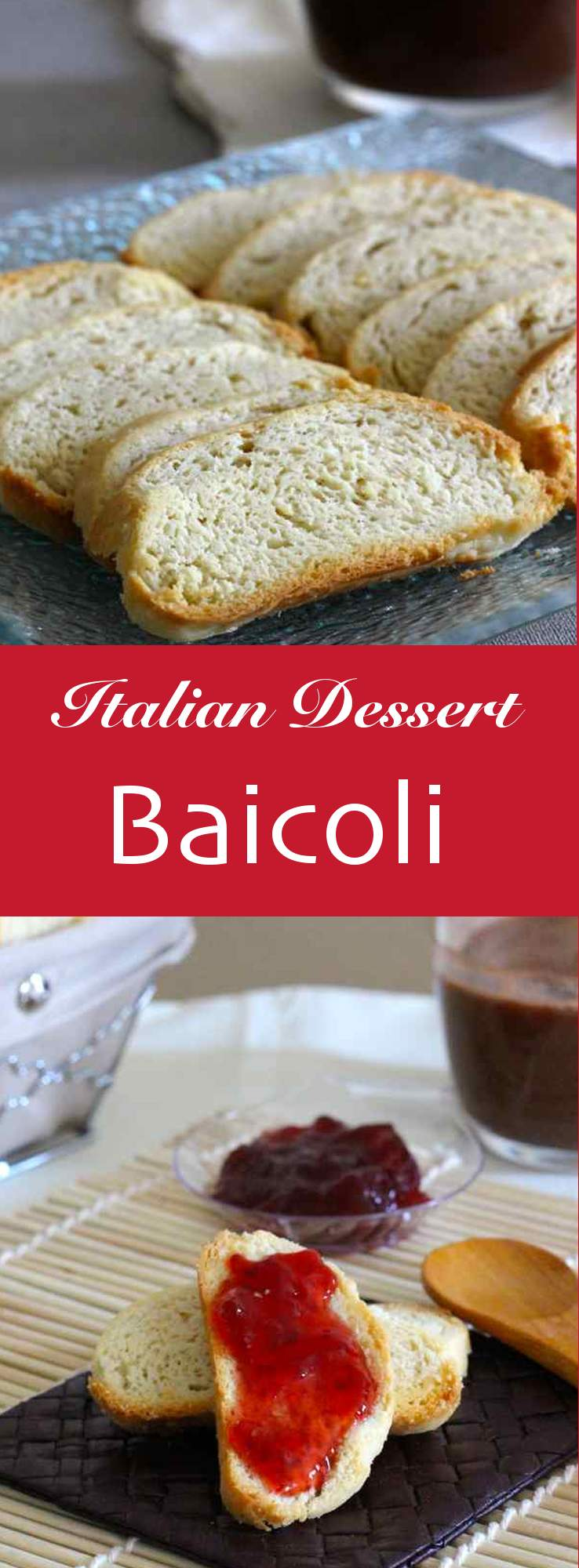 Baicoli are Italian biscuits originally from Venice and often served with zabaglione and coffee.