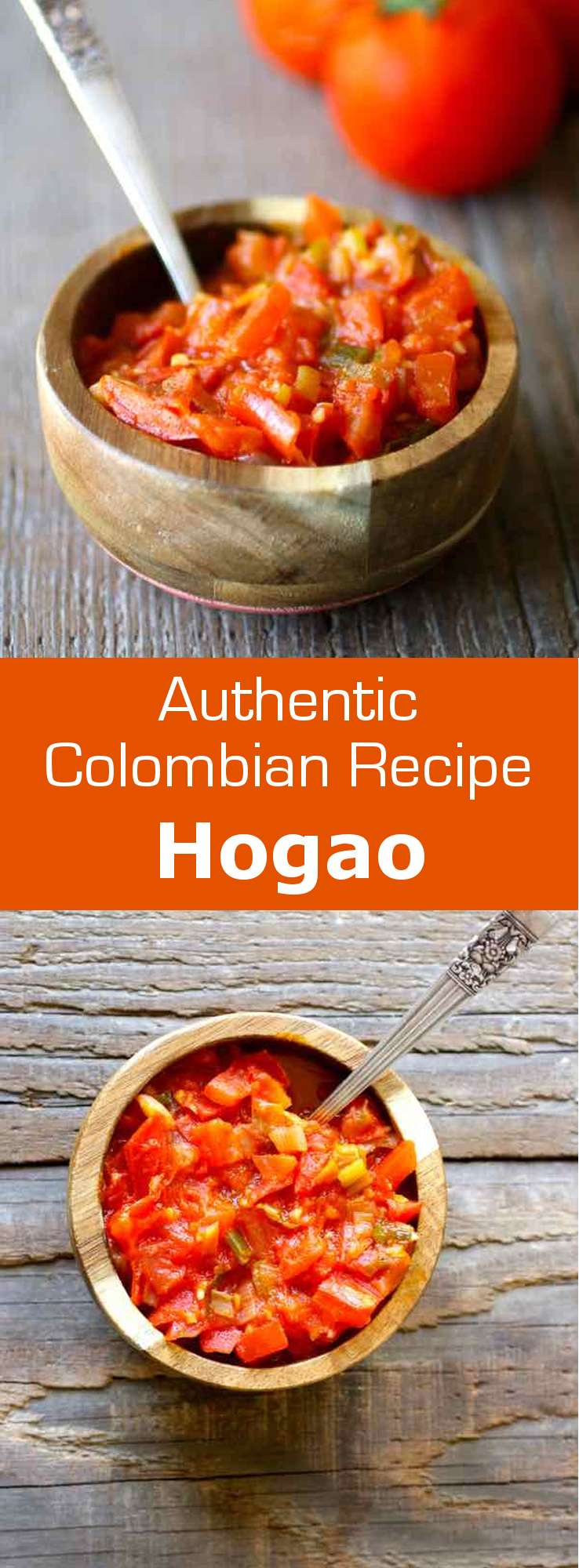 Hogao, also known as criollo sauce, is a traditional Colombian condiment, typically served with rice, meats, arepas as well as patacones #Colombia #196flavors
