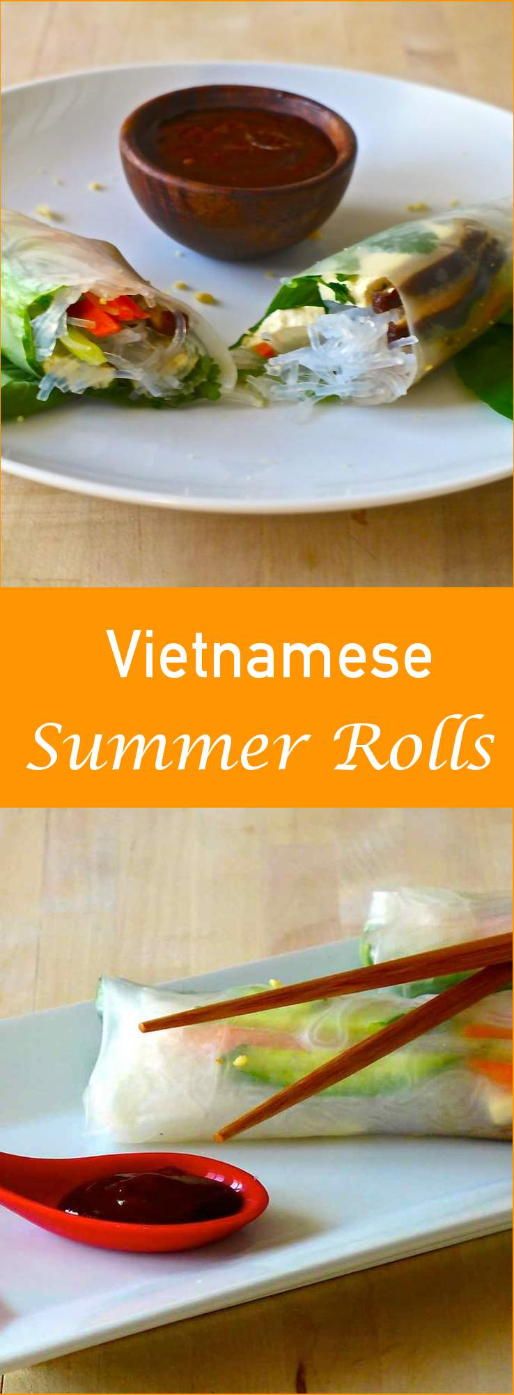 Gỏi cuốn chay is the vegetarian version of Vietnamese spring roll or summer roll, which consists of herbs, vegetables and tofu wrapped in rice paper.