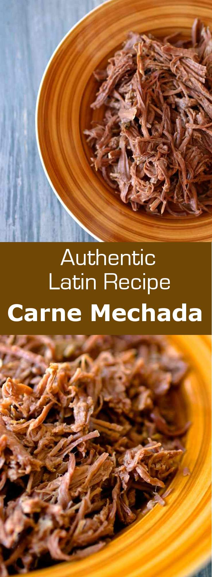 Carne mechada is shredded meat that serves as a base for a number of recipes in Latin America, including as filling for empanadas and arepas. #meat #beef #costarica #latincuisine #latin