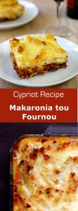 Makaronia tou fournou is the Cypriot version of pastitsio, the Greek oven-baked pasta with meat and tomato sauce as well as Béchamel. #cyprus #greek #mediterranean #pasta
