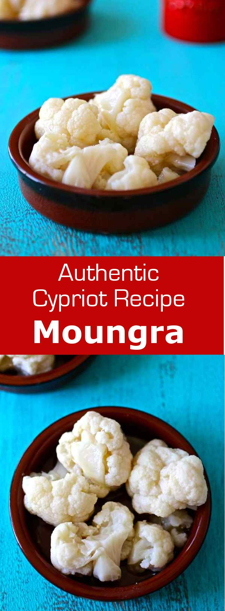Moungra is a traditional Cypriot mezze which consists in cauliflower pickled in fermented bread dough and typically served on Clean Monday. #vegetarian #cyprus