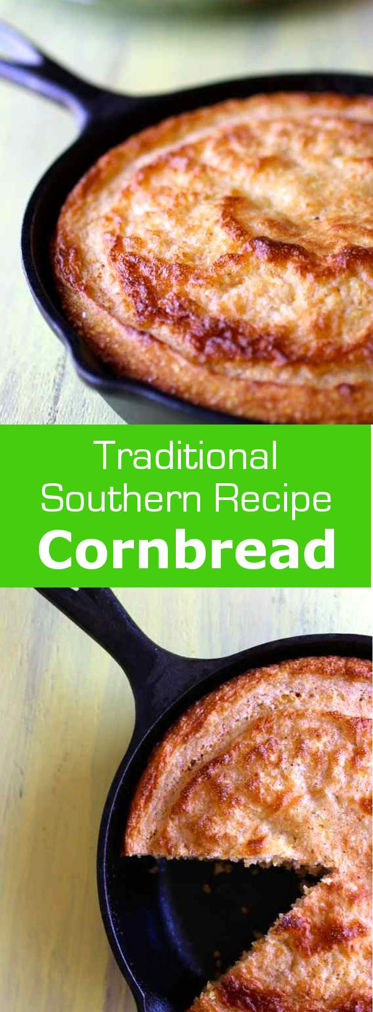 Cornbread is the traditional cornmeal-based bread that is typically associated with Southern cuisine. #vegetarian #bread #unitedstates #usa #american #southern
