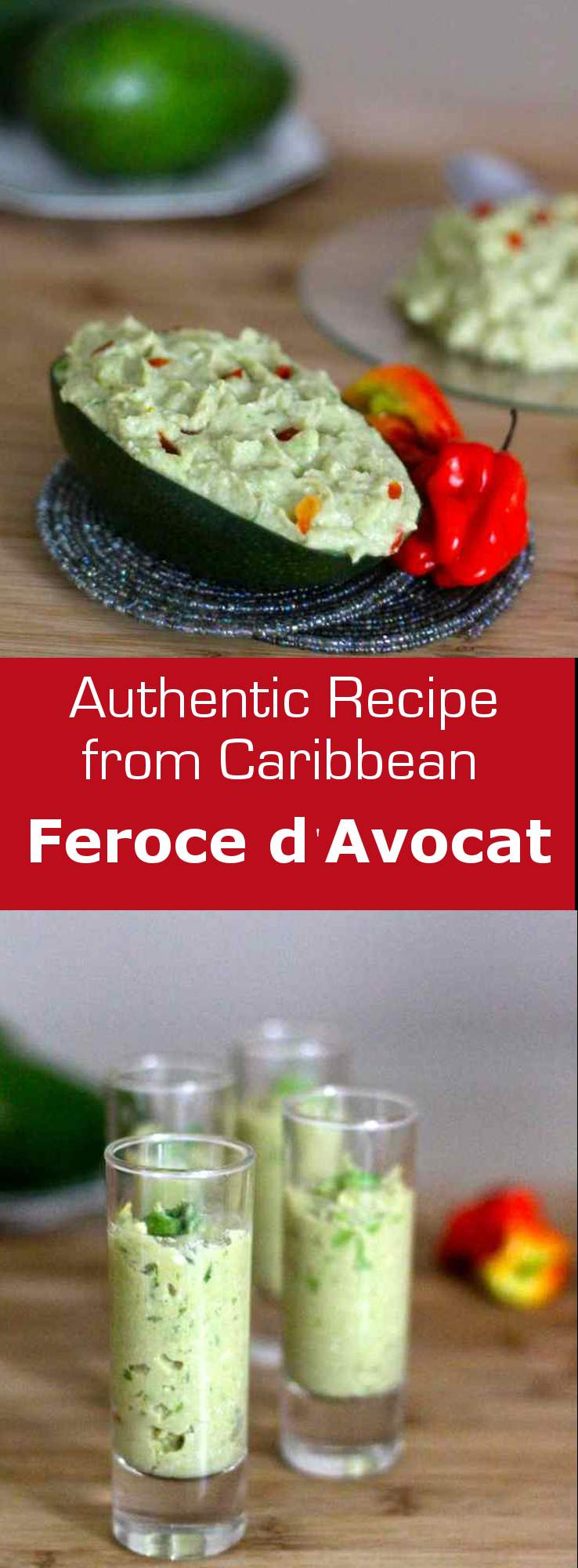 Feroce d'Avocat is a traditional French West Indian specialty made from salt cod, avocado and cassava. #caribbean #appetizer #westindies #glutenfree
