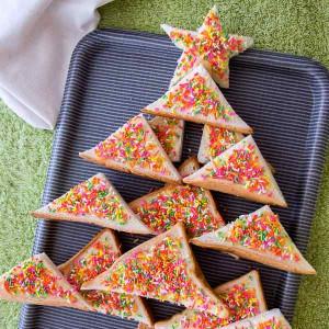 Australia: Fairy Bread Christmas Tree