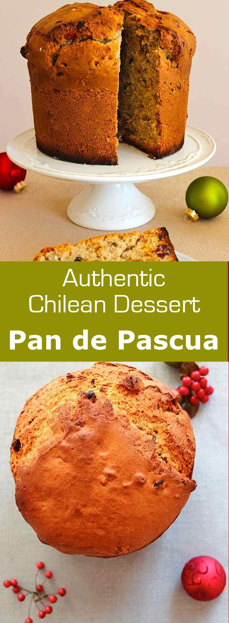 Pan de Pascua is a Chilean spiced cake with dried fruits and nuts that is traditionally eaten around Christmas time. #Christmas #dessert #Chile #196flavors