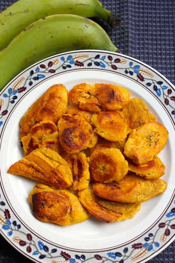 pressed green plantains