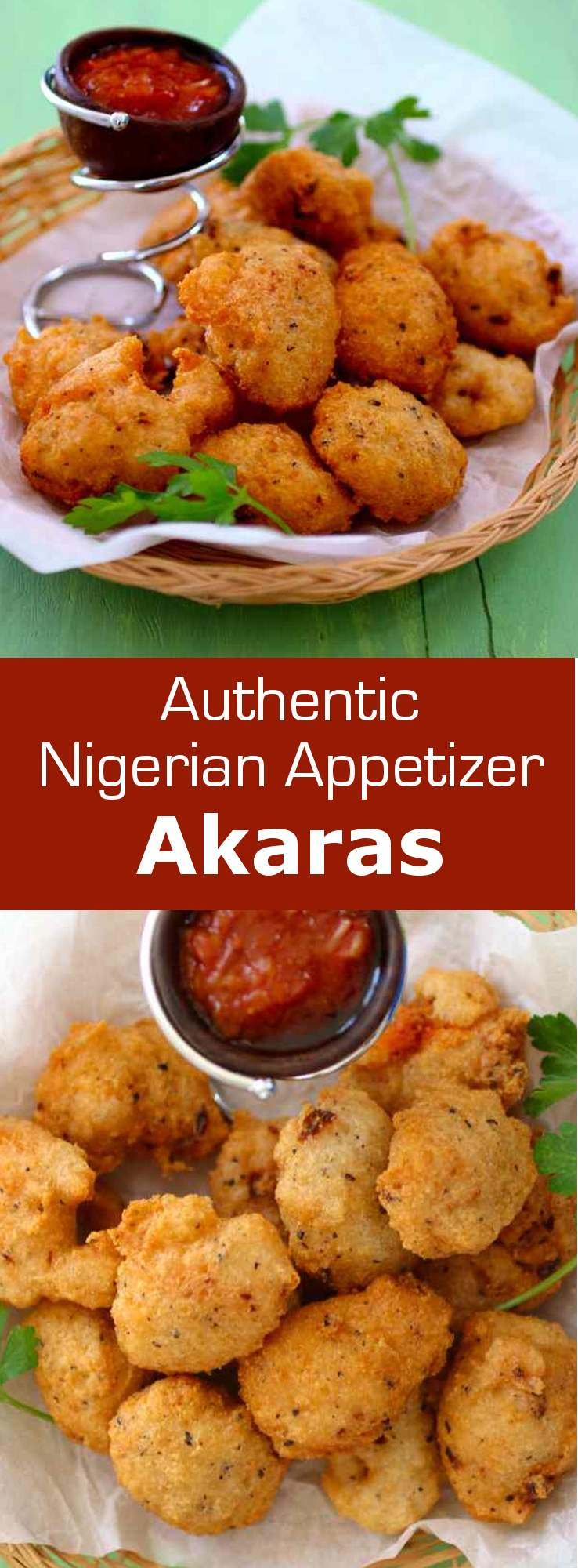 Akara is a delicious fried snack composed of black-eyed peas originally from Nigeria, but also popular throughout West Africa and Brazil. #Nigeria #WestAfrica #snack #appetizer #vegan #glutenfree #196flavors